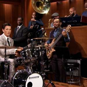Miles Teller Drums with The Roots