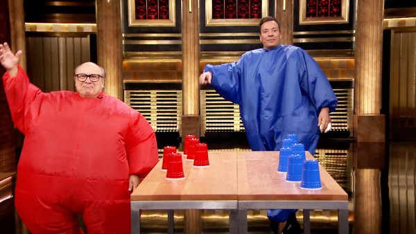 Inflatable Flip Cup with Danny DeVito