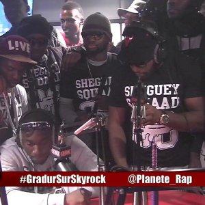 BraBra en freestyle avec Gradur en live dans Planète Rap !