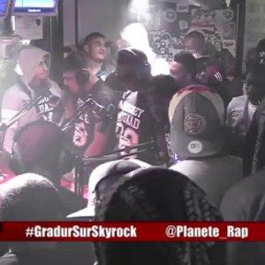 Gradur en freestyle dans Planète Rap