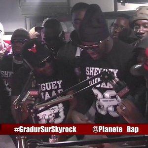 """Black Brut feat Gradur """" SMS REMIX"""" en live dans Planète Rap !"""